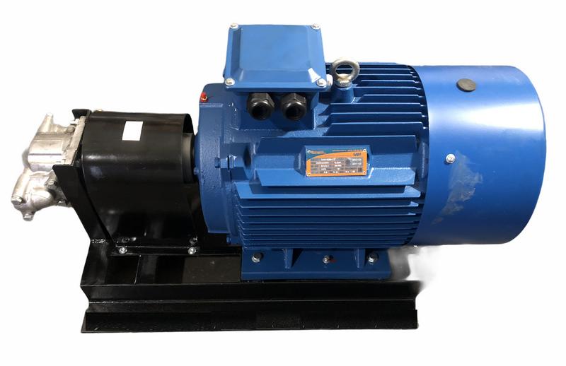 Насосный агрегат с НШ100 с электродвигателем на станине