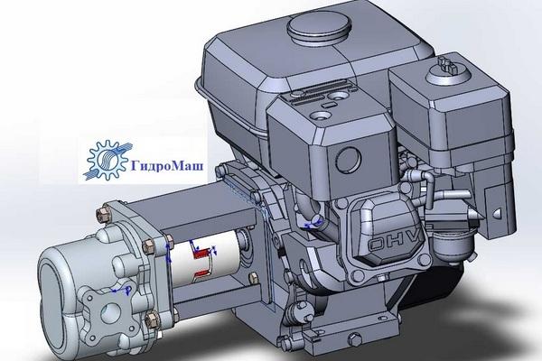 Автономные гидравлические насосы с бензиновыми двигателями